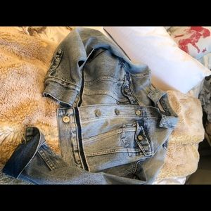AllSaints denim jacket large n